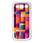 Abstract Background Geometry Blocks Samsung Galaxy S3 Back Case (White) Front