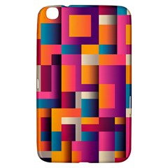 Abstract Background Geometry Blocks Samsung Galaxy Tab 3 (8 ) T3100 Hardshell Case