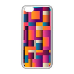 Abstract Background Geometry Blocks Apple Iphone 5c Seamless Case (white)