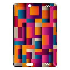 Abstract Background Geometry Blocks Amazon Kindle Fire Hd (2013) Hardshell Case