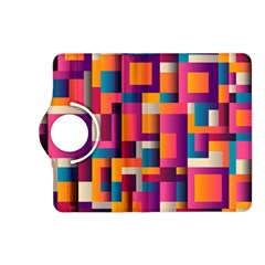 Abstract Background Geometry Blocks Kindle Fire Hd (2013) Flip 360 Case