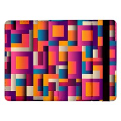 Abstract Background Geometry Blocks Samsung Galaxy Tab Pro 12 2  Flip Case