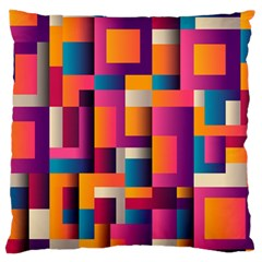 Abstract Background Geometry Blocks Large Flano Cushion Case (one Side)