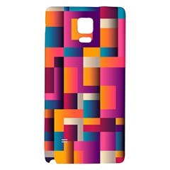 Abstract Background Geometry Blocks Galaxy Note 4 Back Case
