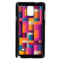 Abstract Background Geometry Blocks Samsung Galaxy Note 4 Case (black)
