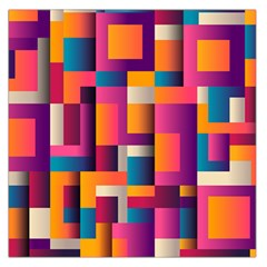 Abstract Background Geometry Blocks Large Satin Scarf (square)