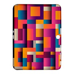 Abstract Background Geometry Blocks Samsung Galaxy Tab 4 (10 1 ) Hardshell Case