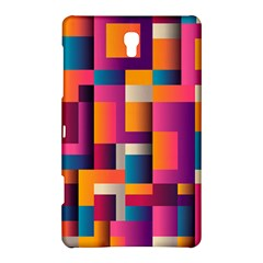 Abstract Background Geometry Blocks Samsung Galaxy Tab S (8 4 ) Hardshell Case