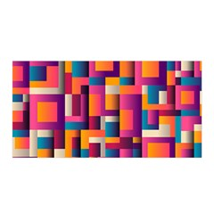 Abstract Background Geometry Blocks Satin Wrap