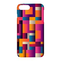 Abstract Background Geometry Blocks Apple Iphone 7 Plus Hardshell Case