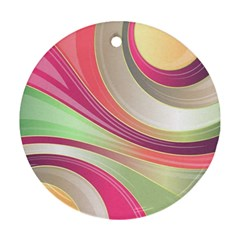 Abstract Colorful Background Wavy Ornament (round)