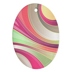 Abstract Colorful Background Wavy Ornament (oval)