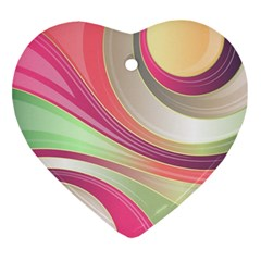 Abstract Colorful Background Wavy Ornament (heart)