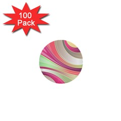 Abstract Colorful Background Wavy 1  Mini Buttons (100 Pack)