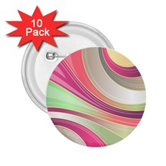Abstract Colorful Background Wavy 2 25  Buttons (10 Pack)
