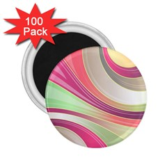 Abstract Colorful Background Wavy 2 25  Magnets (100 Pack)