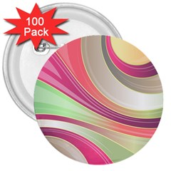 Abstract Colorful Background Wavy 3  Buttons (100 Pack)