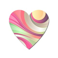 Abstract Colorful Background Wavy Heart Magnet