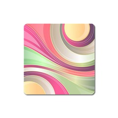 Abstract Colorful Background Wavy Square Magnet