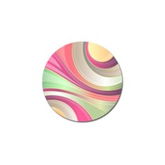 Abstract Colorful Background Wavy Golf Ball Marker