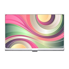 Abstract Colorful Background Wavy Business Card Holders