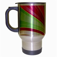 Abstract Colorful Background Wavy Travel Mug (silver Gray)