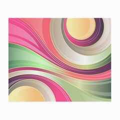 Abstract Colorful Background Wavy Small Glasses Cloth