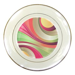 Abstract Colorful Background Wavy Porcelain Plates