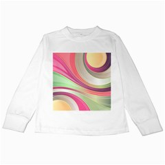 Abstract Colorful Background Wavy Kids Long Sleeve T Shirts