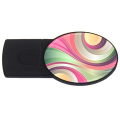 Abstract Colorful Background Wavy Usb Flash Drive Oval (4 Gb)