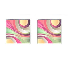 Abstract Colorful Background Wavy Cufflinks (square)