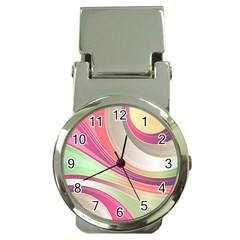 Abstract Colorful Background Wavy Money Clip Watches