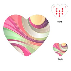 Abstract Colorful Background Wavy Playing Cards (heart)