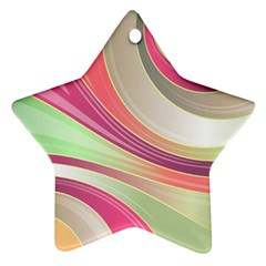 Abstract Colorful Background Wavy Star Ornament (two Sides)