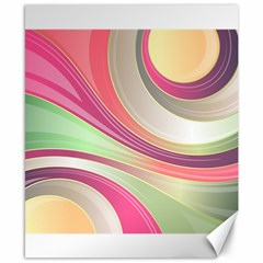 Abstract Colorful Background Wavy Canvas 8  X 10