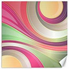 Abstract Colorful Background Wavy Canvas 16  X 16