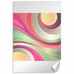 Abstract Colorful Background Wavy Canvas 24  X 36