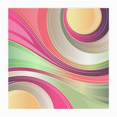 Abstract Colorful Background Wavy Medium Glasses Cloth