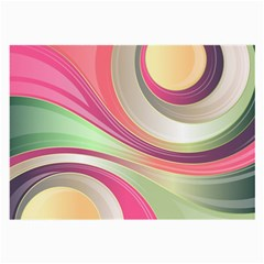 Abstract Colorful Background Wavy Large Glasses Cloth (2 Side)