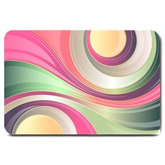 Abstract Colorful Background Wavy Large Doormat