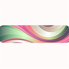 Abstract Colorful Background Wavy Large Bar Mats