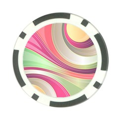 Abstract Colorful Background Wavy Poker Chip Card Guards