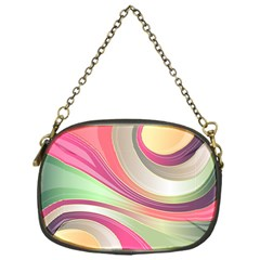 Abstract Colorful Background Wavy Chain Purses (one Side)