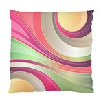 Abstract Colorful Background Wavy Standard Cushion Case (Two Sides) Front