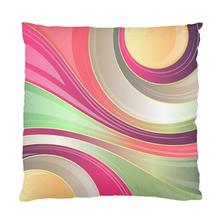 Abstract Colorful Background Wavy Standard Cushion Case (Two Sides)