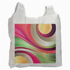 Abstract Colorful Background Wavy Recycle Bag (two Side)