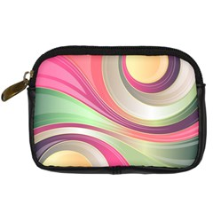 Abstract Colorful Background Wavy Digital Camera Cases