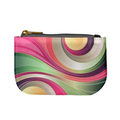Abstract Colorful Background Wavy Mini Coin Purses