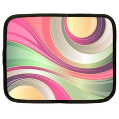Abstract Colorful Background Wavy Netbook Case (xxl)