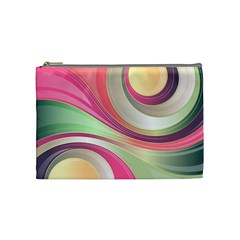 Abstract Colorful Background Wavy Cosmetic Bag (Medium)